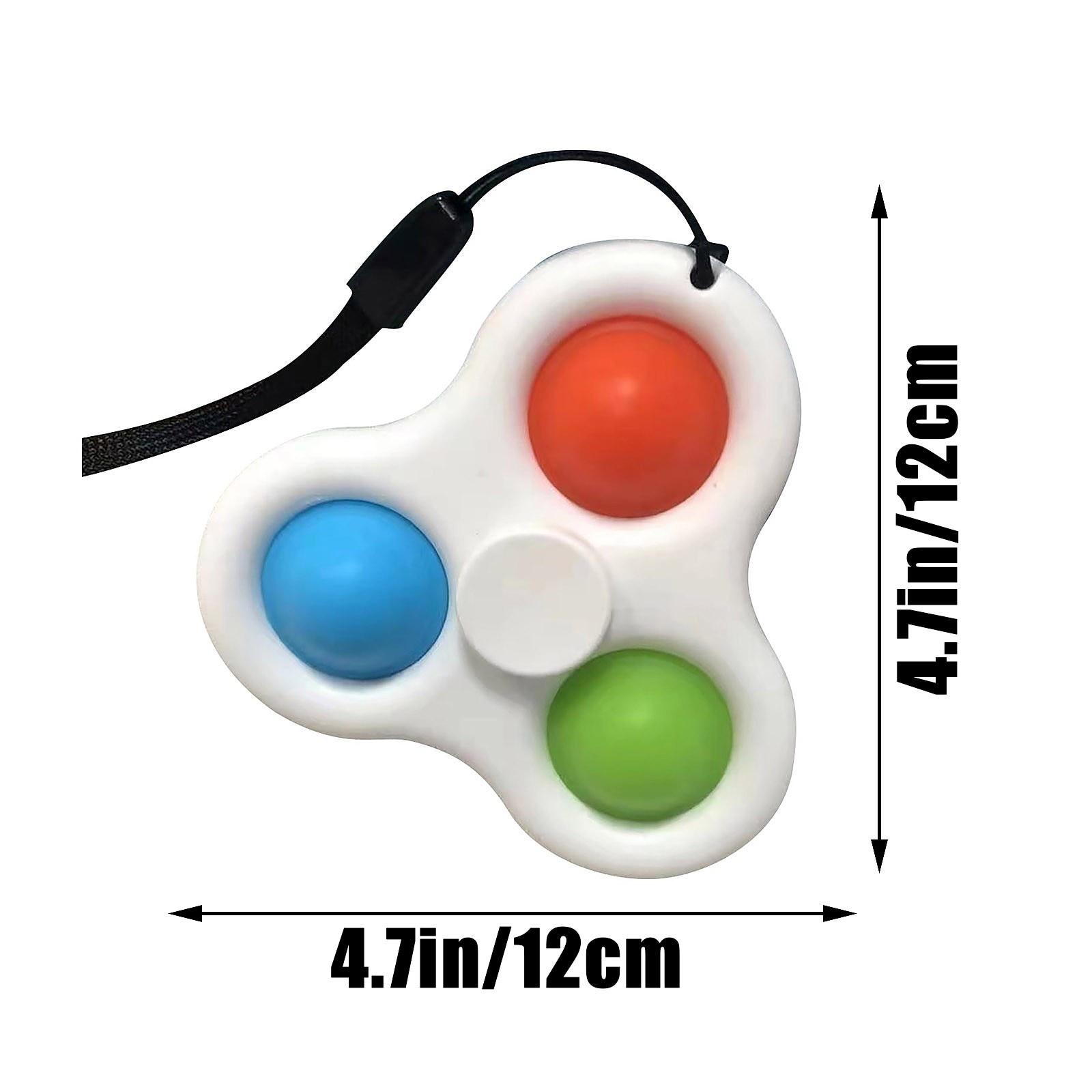 pop it 3 sided spinner fidget toy 8107 - Wacky Track