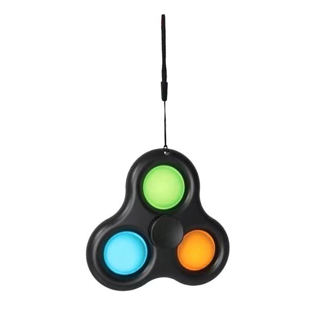 pop it 3 sided spinner fidget toy 8972 - Wacky Track