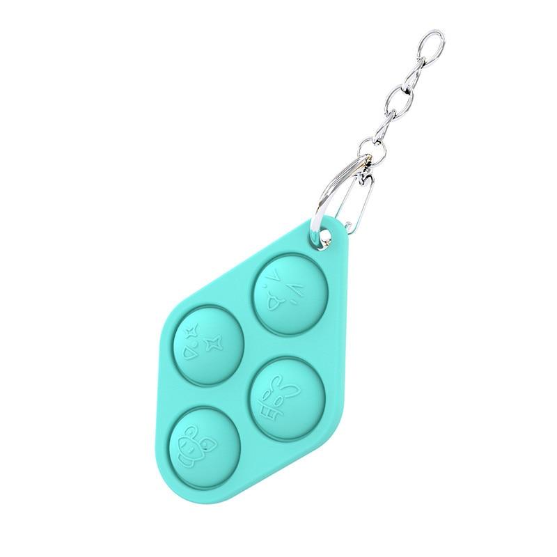pop it 4 fingers keychain fidget toy 2019 - Wacky Track