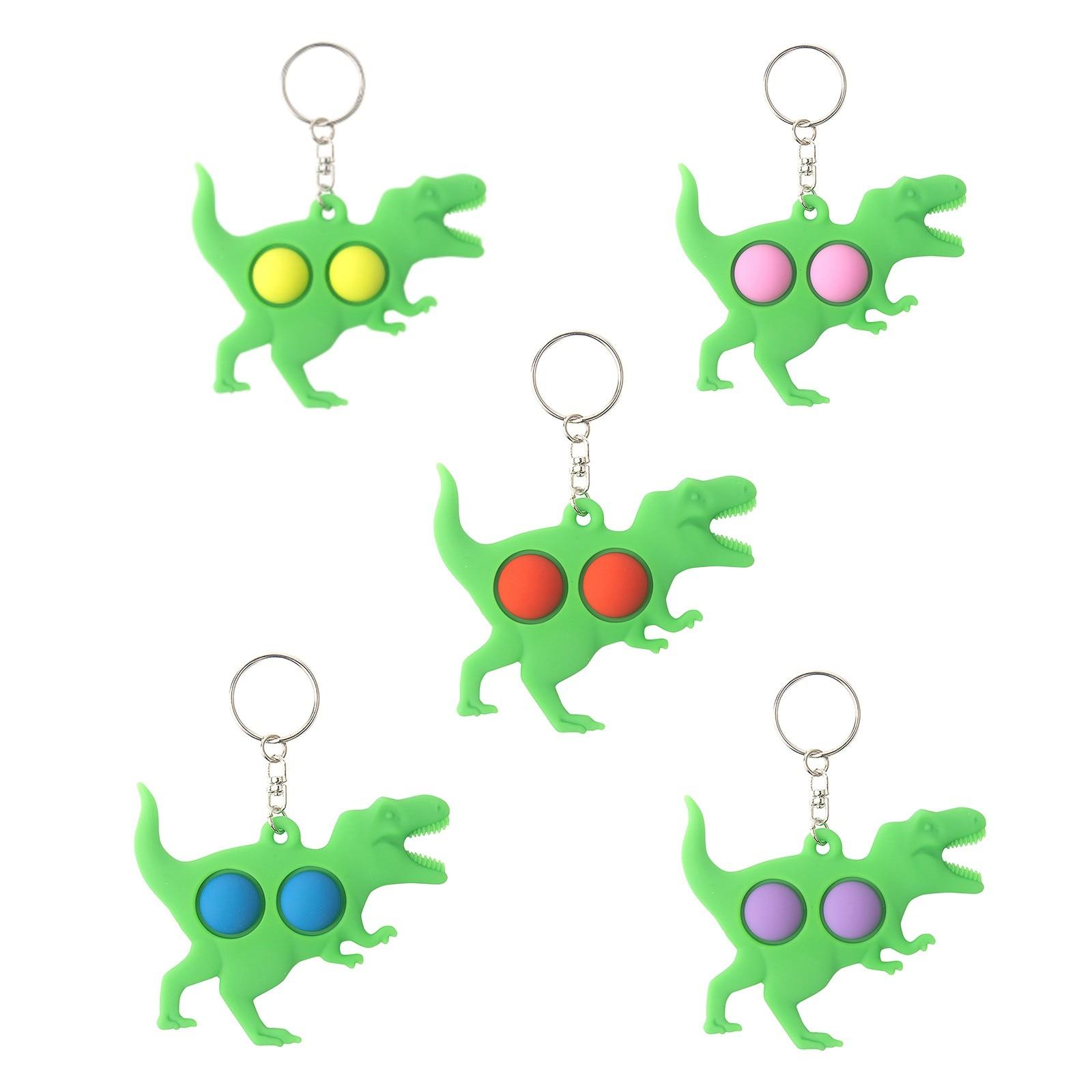 pop it 5pc toy tyrannosaurus keychain fidget toys 4306 - Wacky Track