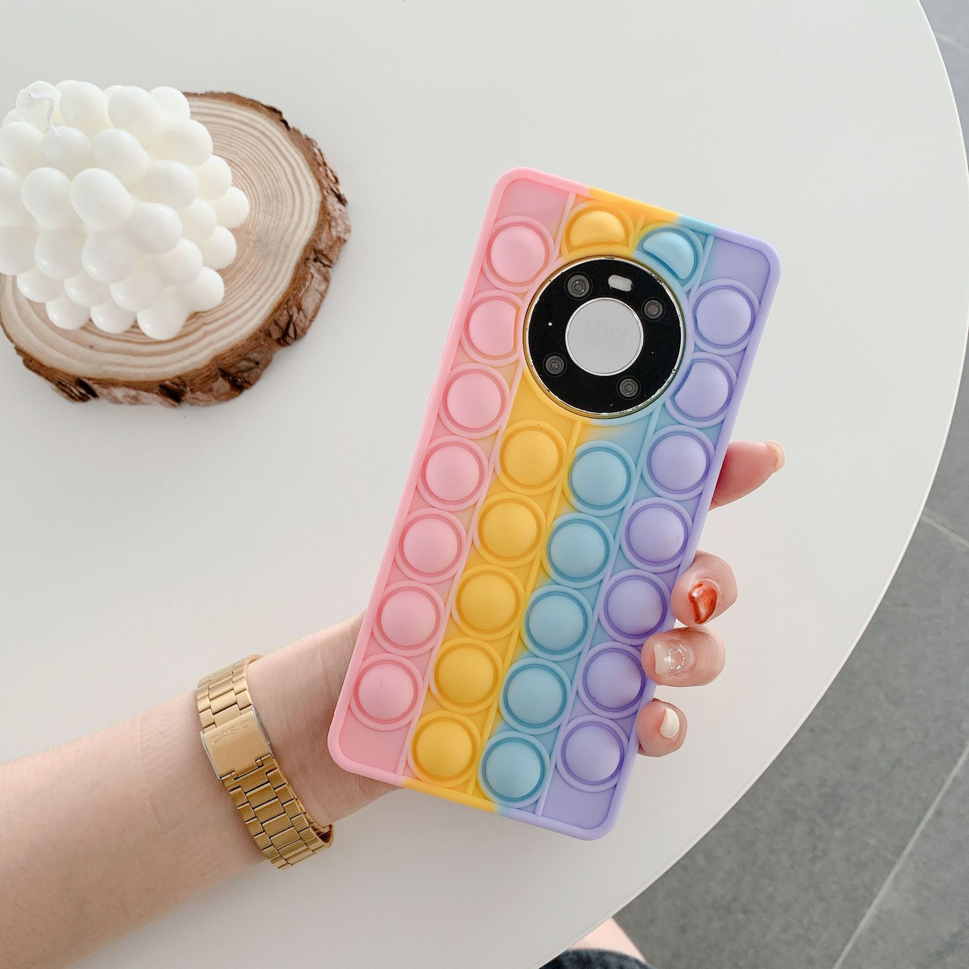 pop it anti stress multi color silicone phone case for huawei fidget toys 1582 - Wacky Track