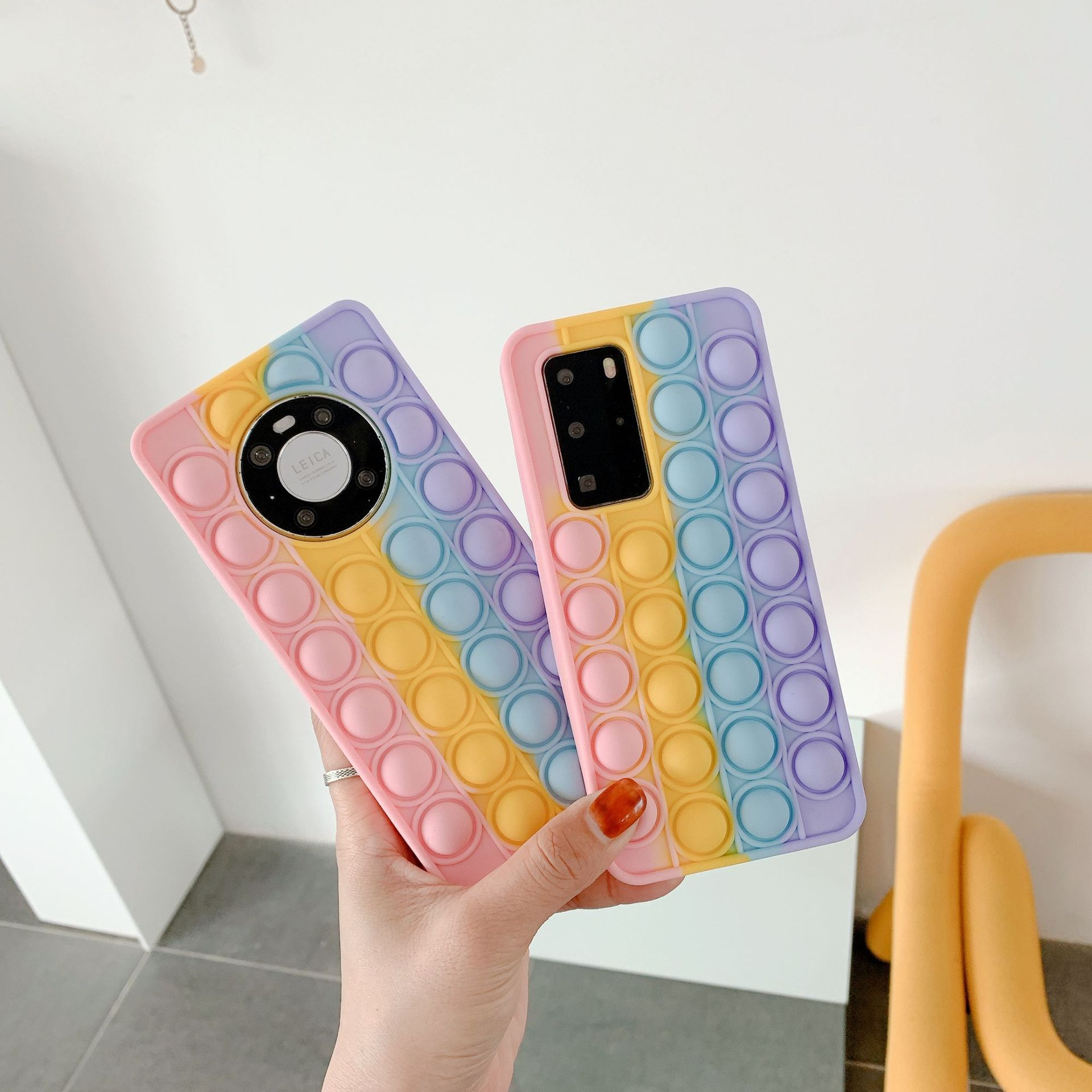 pop it anti stress multi color silicone phone case for huawei fidget toys 2020 - Wacky Track