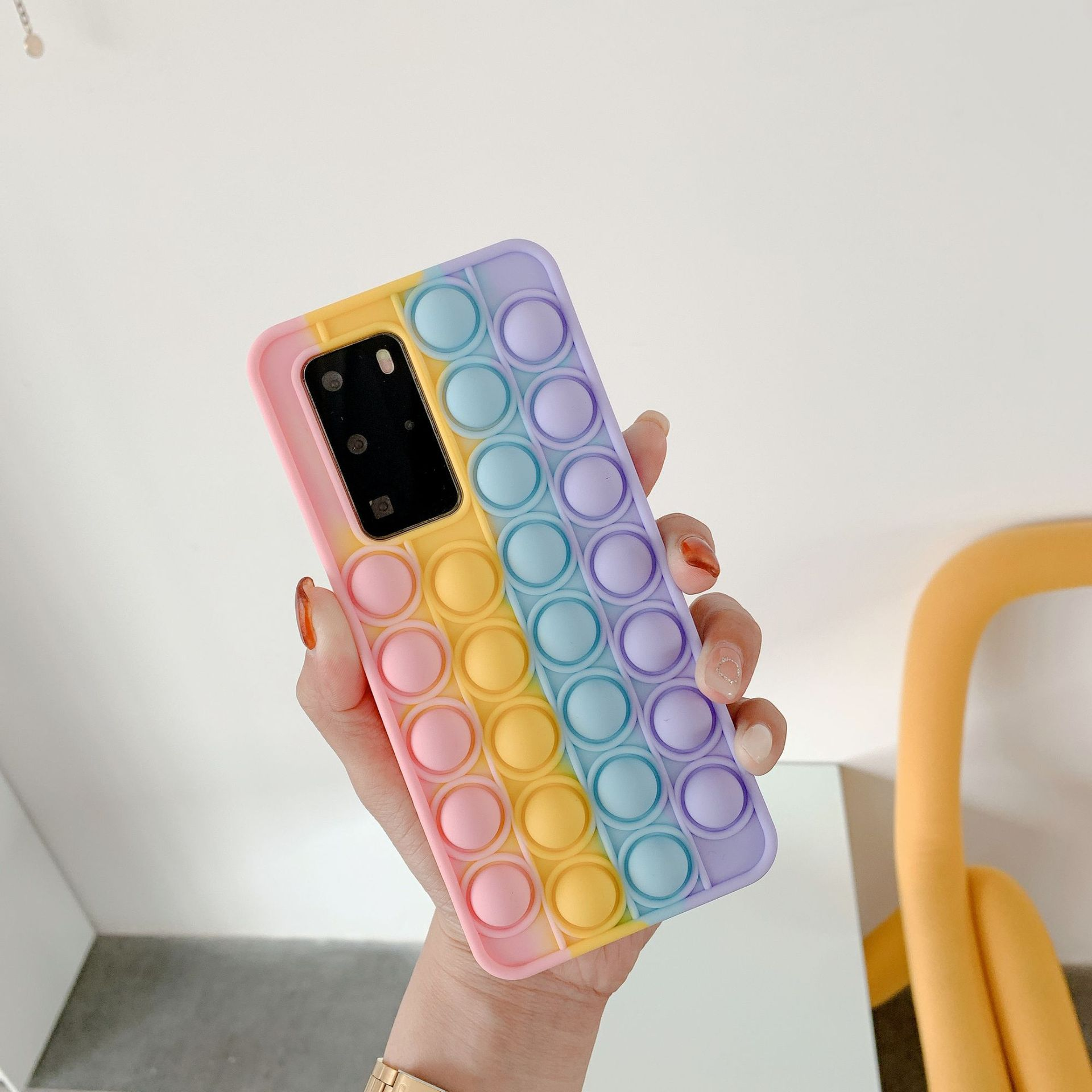 pop it anti stress multi color silicone phone case for huawei fidget toys 8559 - Wacky Track