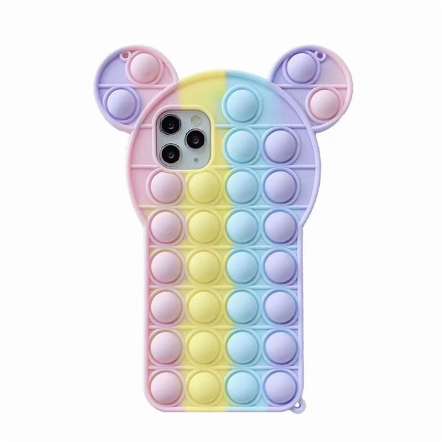 pop it anti stress mickey mouse silicone phone case for iphone fidgets toys 6825 - Wacky Track