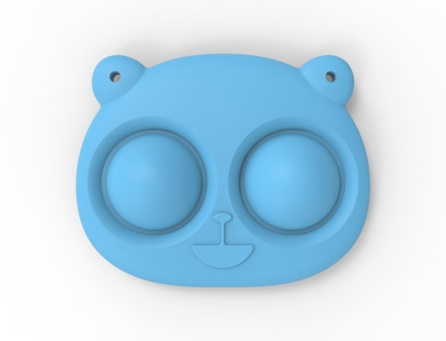 pop it bear keychain fidget toy 1062 - Wacky Track