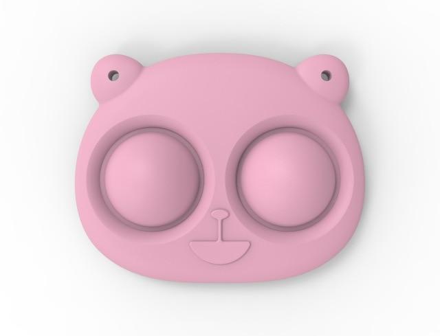 pop it bear keychain fidget toy 5267 - Wacky Track