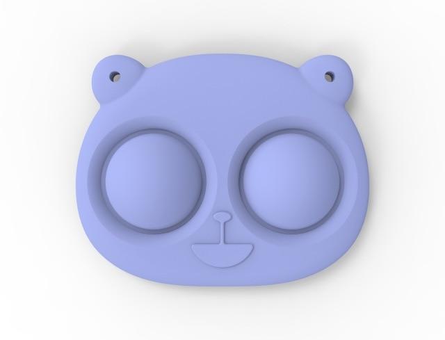 pop it bear keychain fidget toy 6802 - Wacky Track