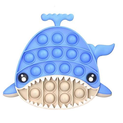 pop it blue whale fidget toys 8534 - Wacky Track