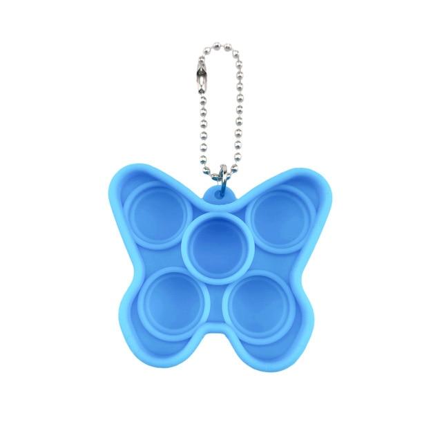 pop it butterfly keychain fidget toys 8150 - Wacky Track