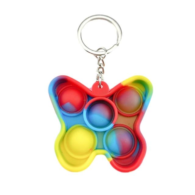 pop it butterfly keychain fidget toys 8972 - Wacky Track