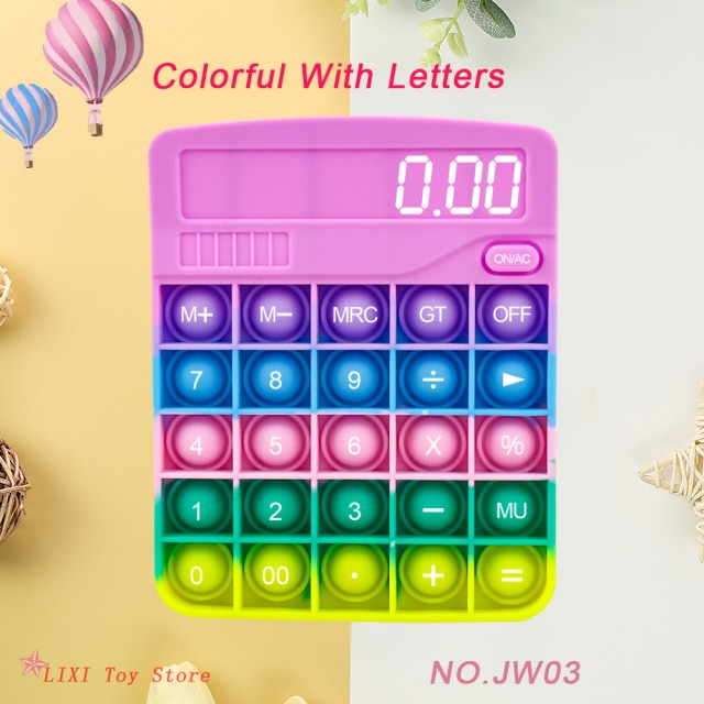 pop it calculator fidget toy 1677 - Wacky Track