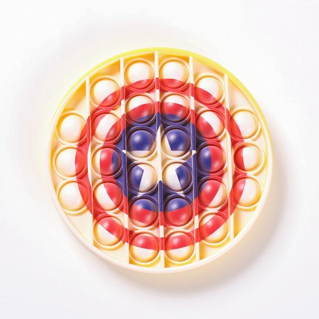 pop it captain america shield fidget toy 8281 - Wacky Track