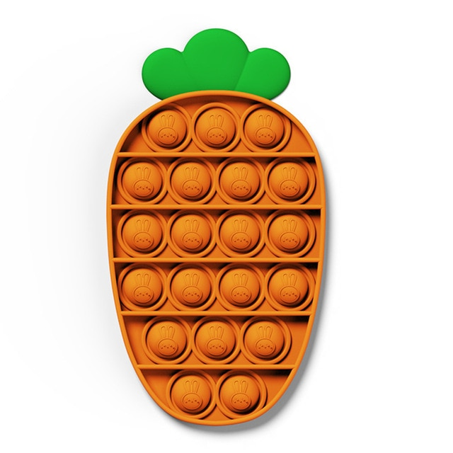 pop it carrot fidget toys 5578 - Wacky Track