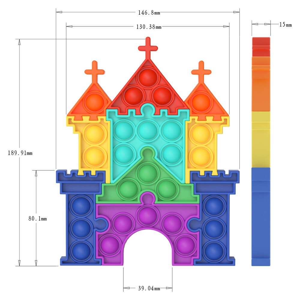pop it castle fidget toy 1535 - Wacky Track