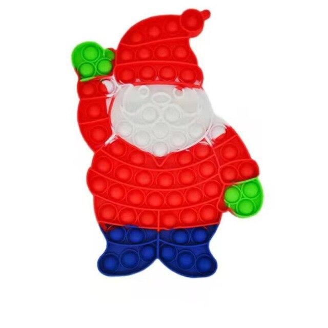 pop it christmas santa claus fidget toy 1566 - Wacky Track