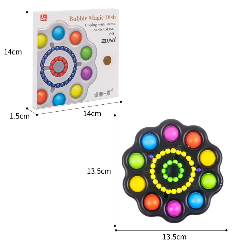 pop it colorful 10 sides spinner fidget toy 2271 - Wacky Track