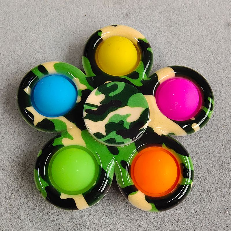 pop it colorful spinner 5 sides anti stress fidgets toys 1092 - Wacky Track
