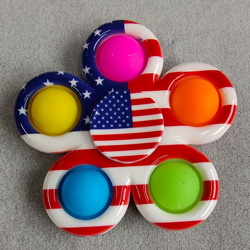pop it colorful spinner 5 sides anti stress fidgets toys 6993 - Wacky Track