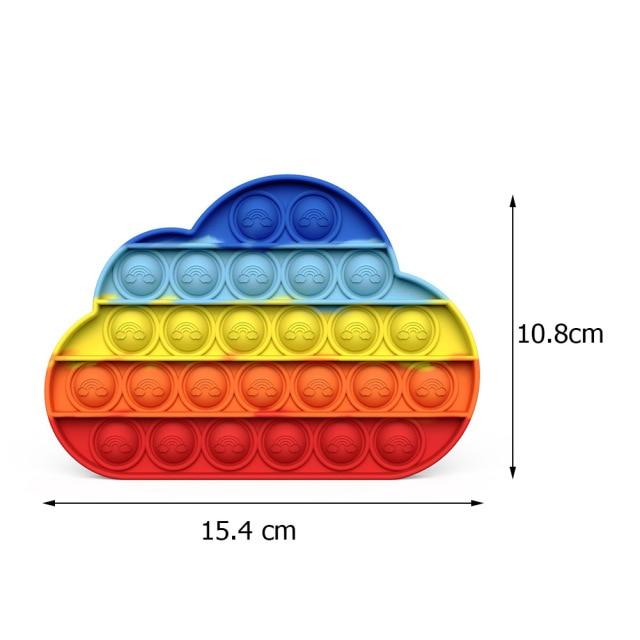 pop it colorful cloud shape fidget toy 2474 - Wacky Track