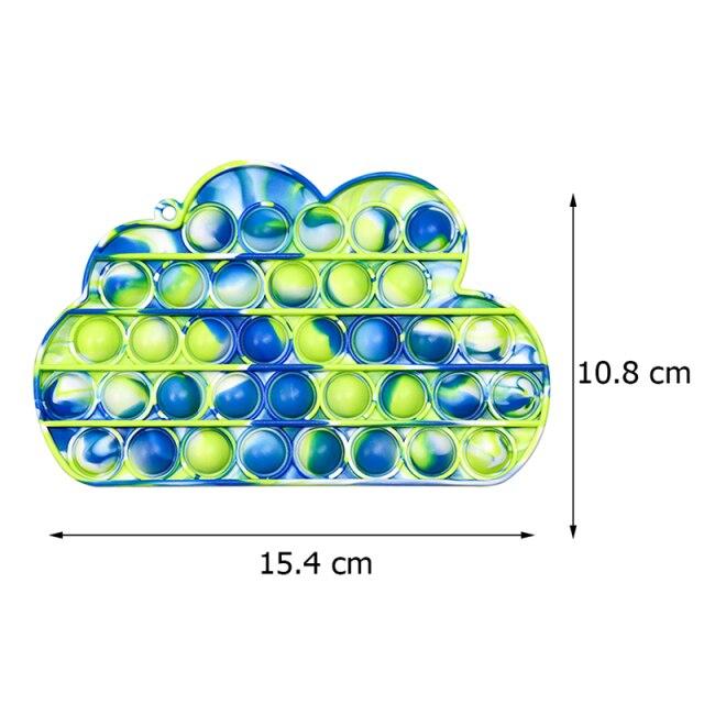 pop it colorful cloud shape fidget toy 8755 - Wacky Track