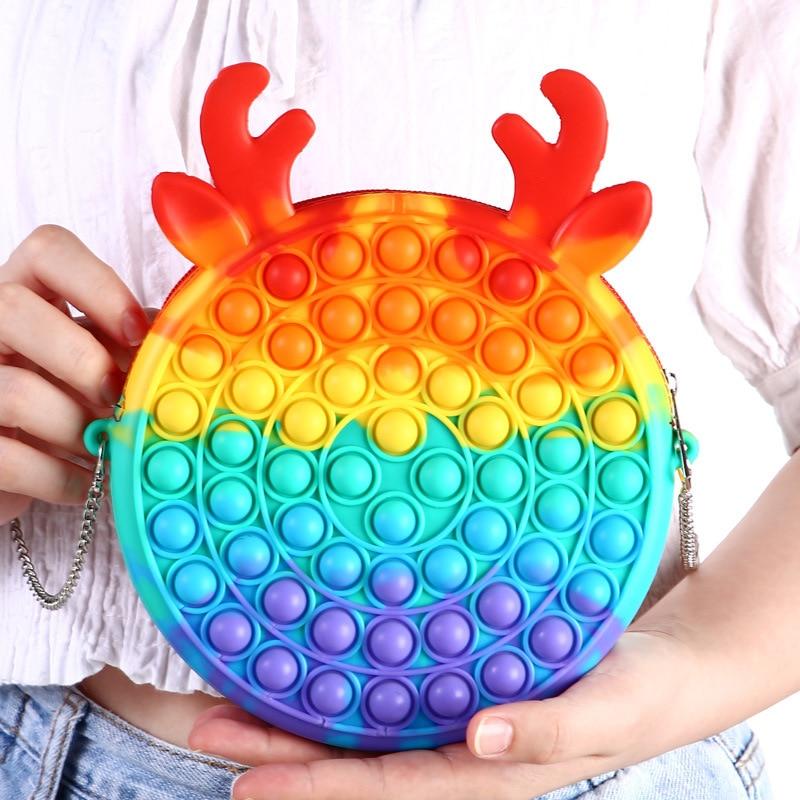 pop it cute bag animal shape fidget toy 3675 - Wacky Track