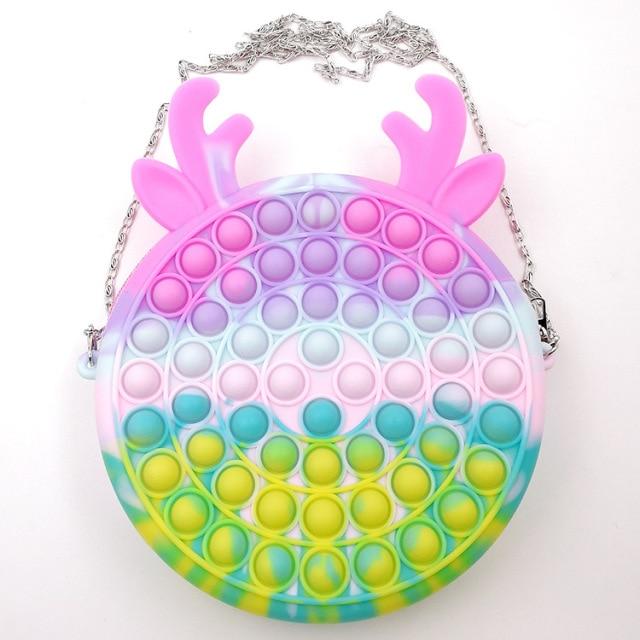 pop it cute bag animal shape fidget toy 8543 - Wacky Track