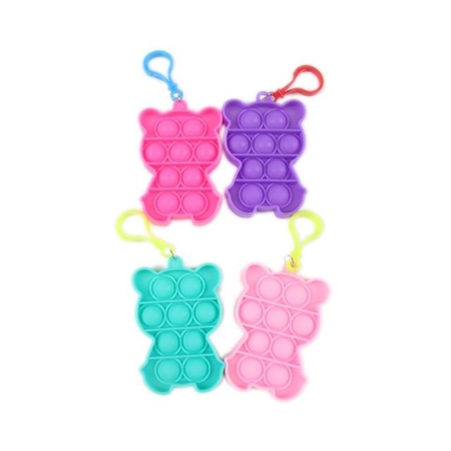 pop it cute bear keychain fidget toy 3848 - Wacky Track