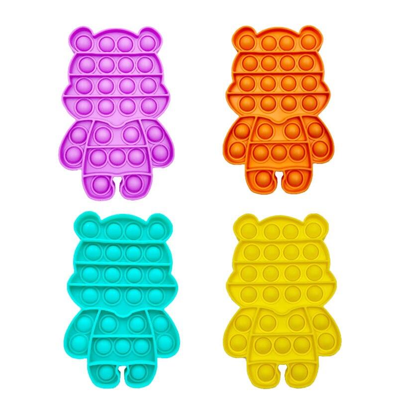 pop it cute bear shape fidget toys 6474 - Wacky Track