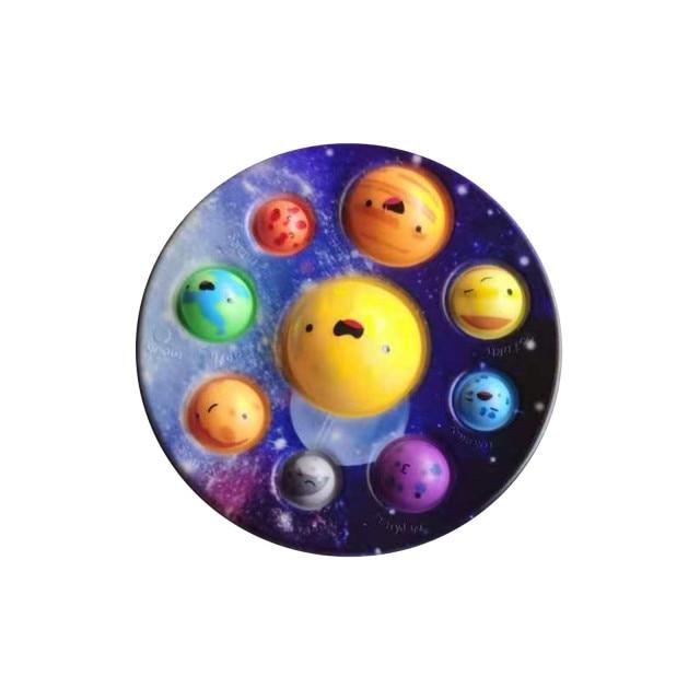 pop it cute solar system fidget toy 1183 - Wacky Track
