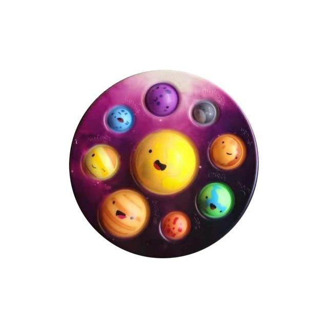 pop it cute solar system fidget toy 1768 - Wacky Track