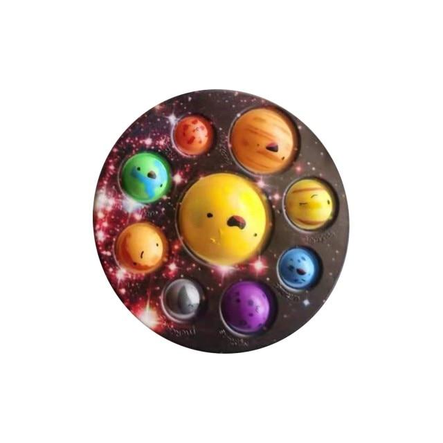 pop it cute solar system fidget toy 3341 - Wacky Track