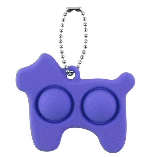 pop it dog keychain fidget toy 1703 - Wacky Track
