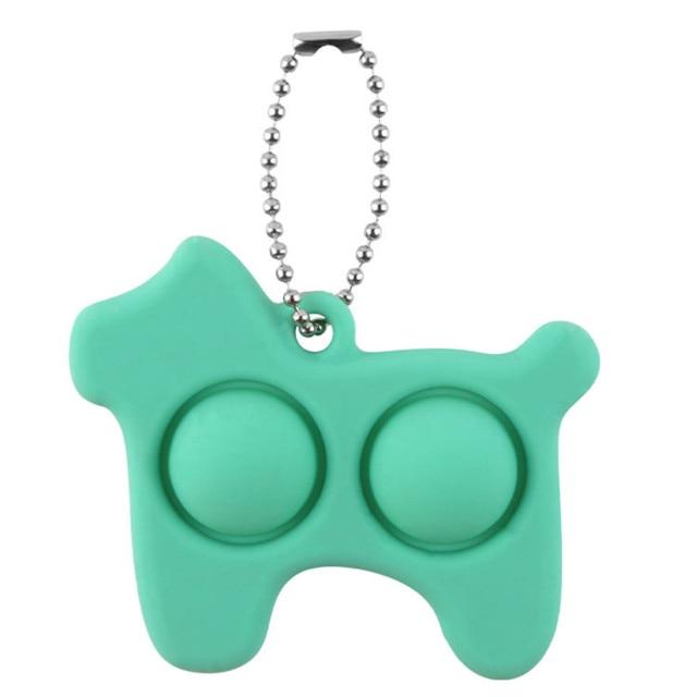 pop it dog keychain fidget toy 6010 - Wacky Track