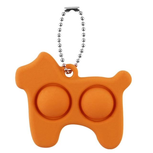 pop it dog keychain fidget toy 6247 - Wacky Track