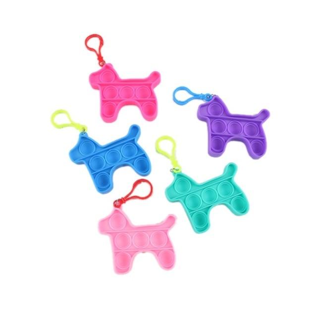 pop it dog keychain fidget toy 6537 - Wacky Track
