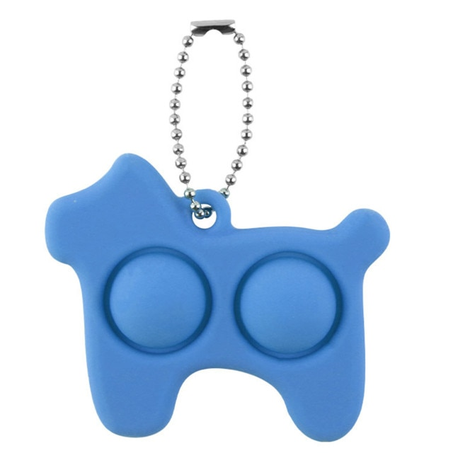 pop it dog keychain fidget toy 7742 - Wacky Track