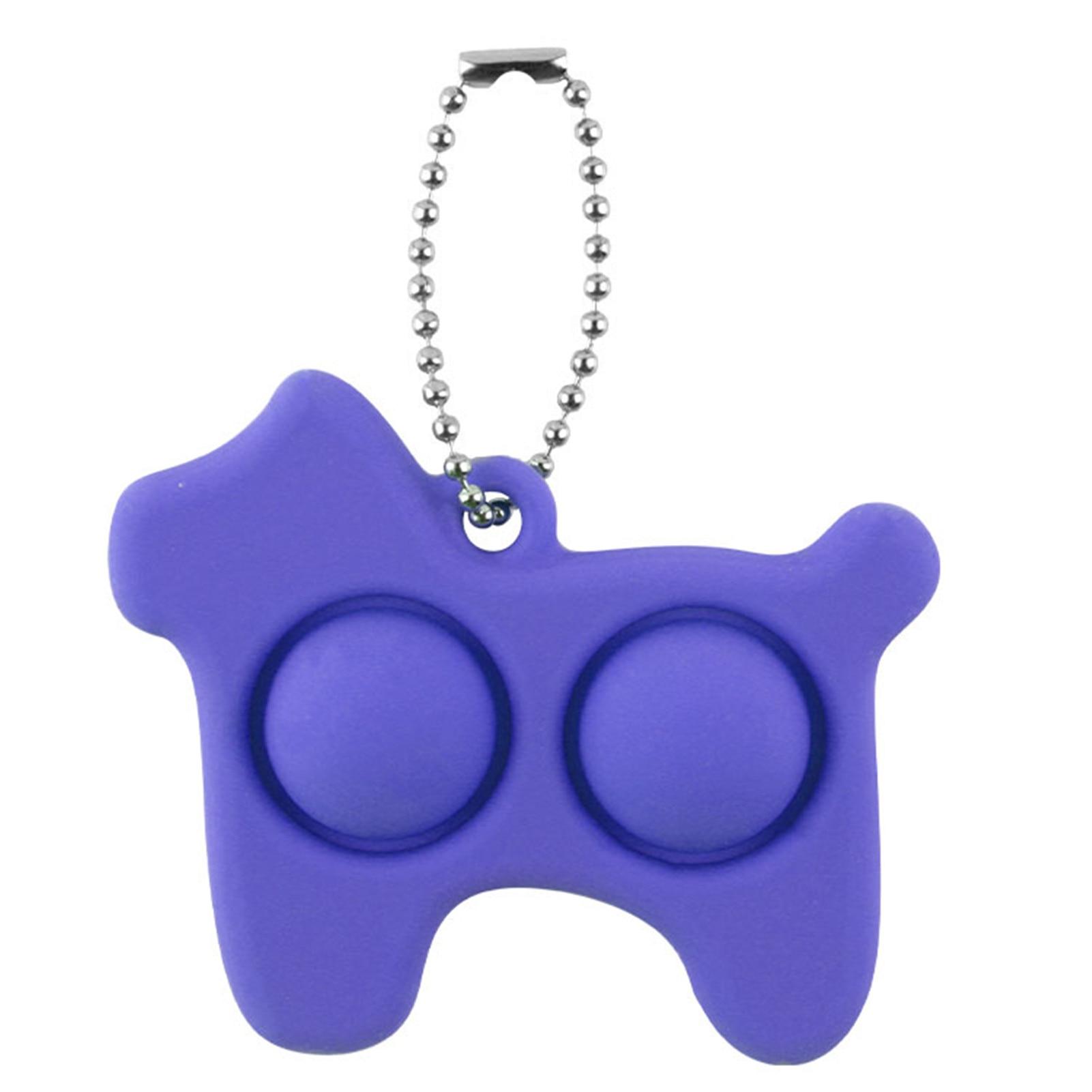 pop it dog keychain fidget toy 8455 - Wacky Track