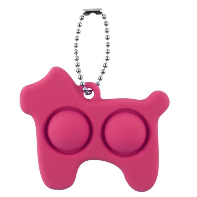 pop it dog keychain fidget toy 8711 - Wacky Track