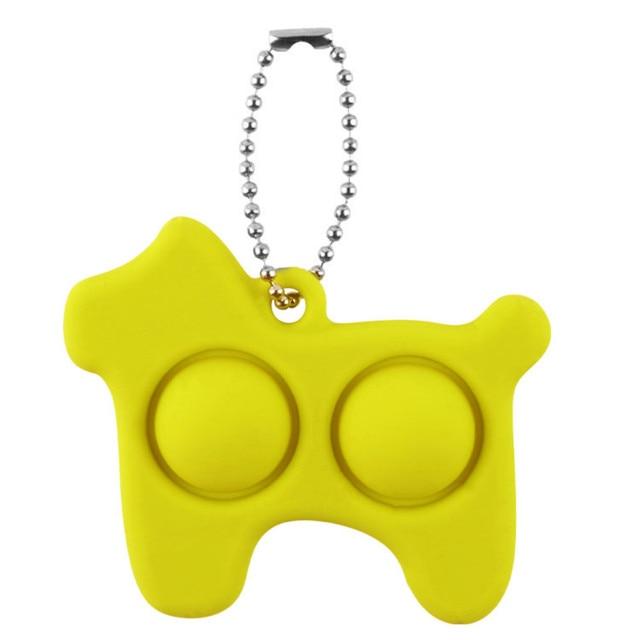 pop it dog keychain fidget toy 8751 - Wacky Track