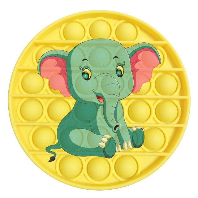 pop it elephant image fidget toy 6525 - Wacky Track