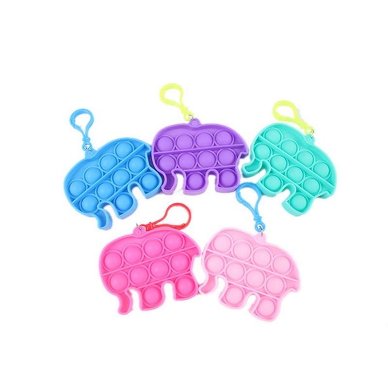 pop it elephant keychain fidget toy 1641 - Wacky Track