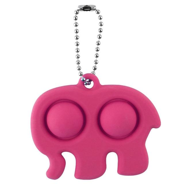 pop it elephant keychain fidget toy 1950 - Wacky Track