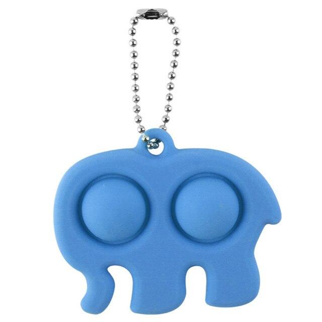 pop it elephant keychain fidget toy 2754 - Wacky Track