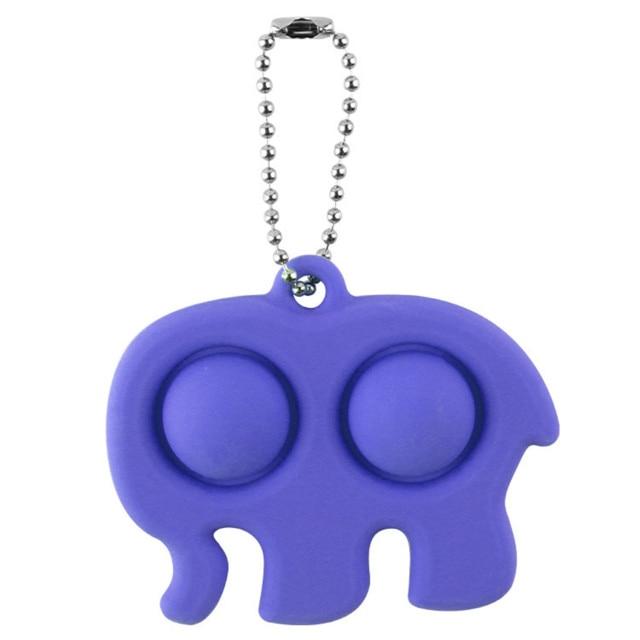 pop it elephant keychain fidget toy 4879 - Wacky Track