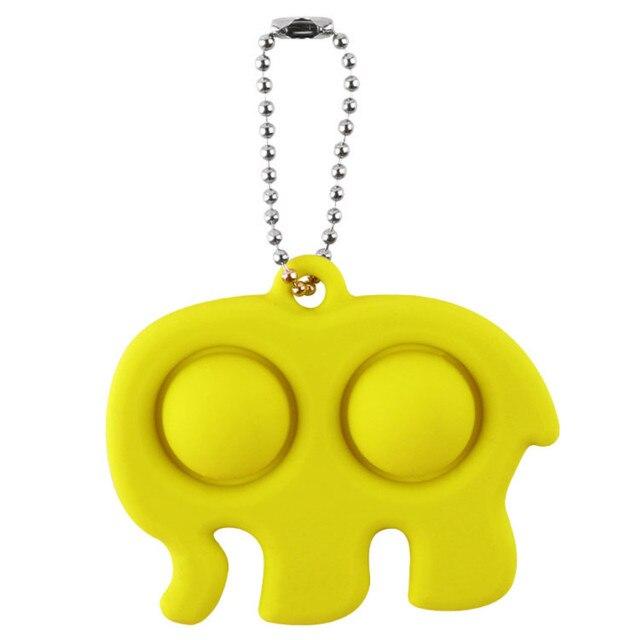 pop it elephant keychain fidget toy 5946 - Wacky Track