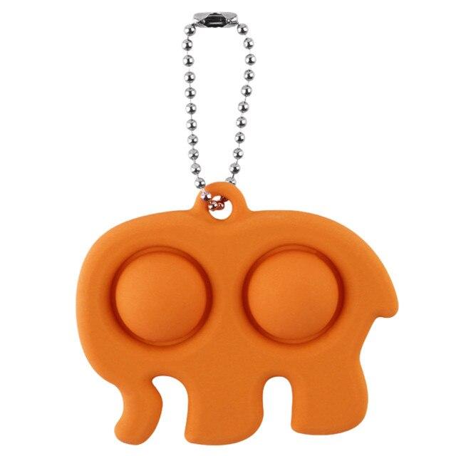 pop it elephant keychain fidget toy 6105 - Wacky Track