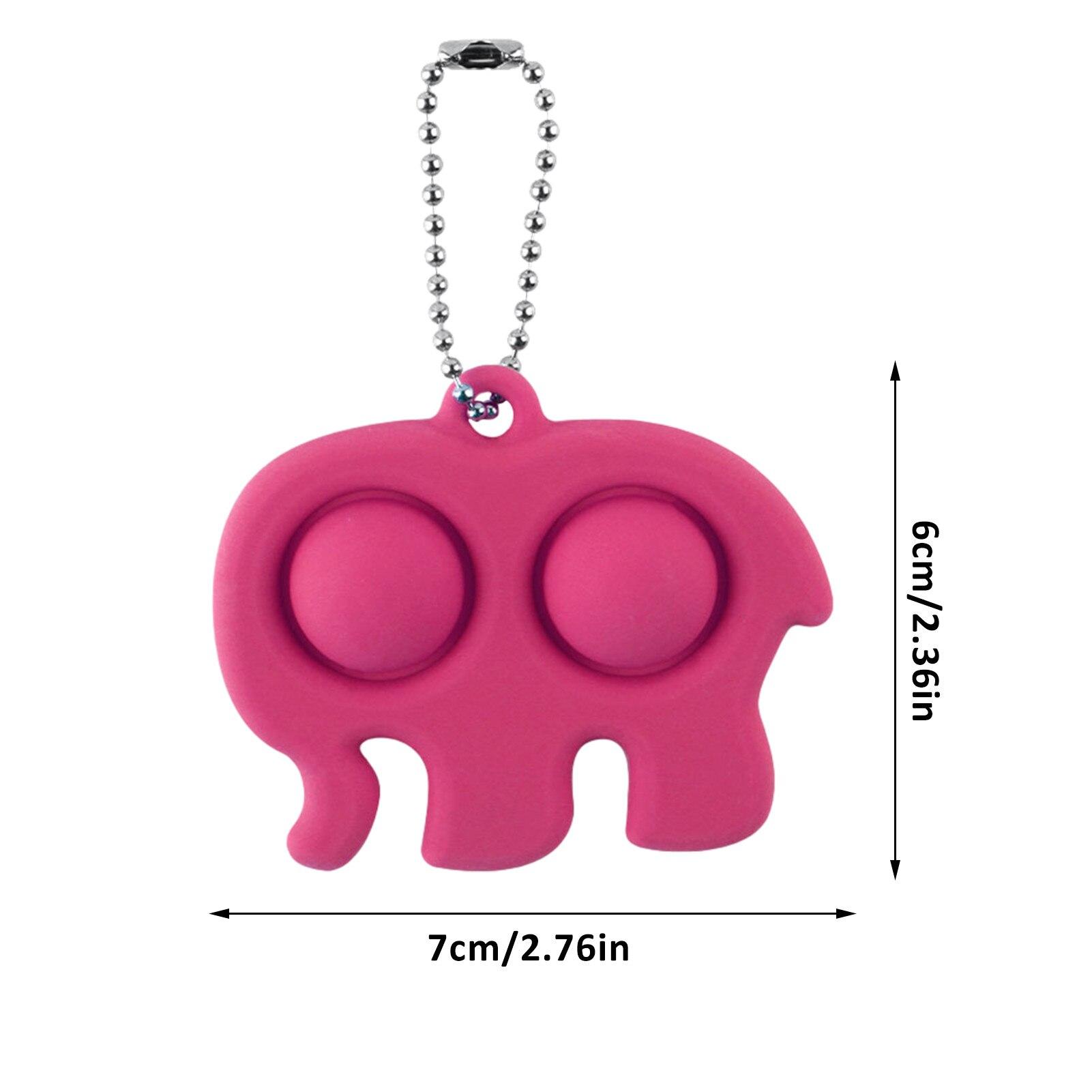 pop it elephant keychain fidget toy 6367 - Wacky Track