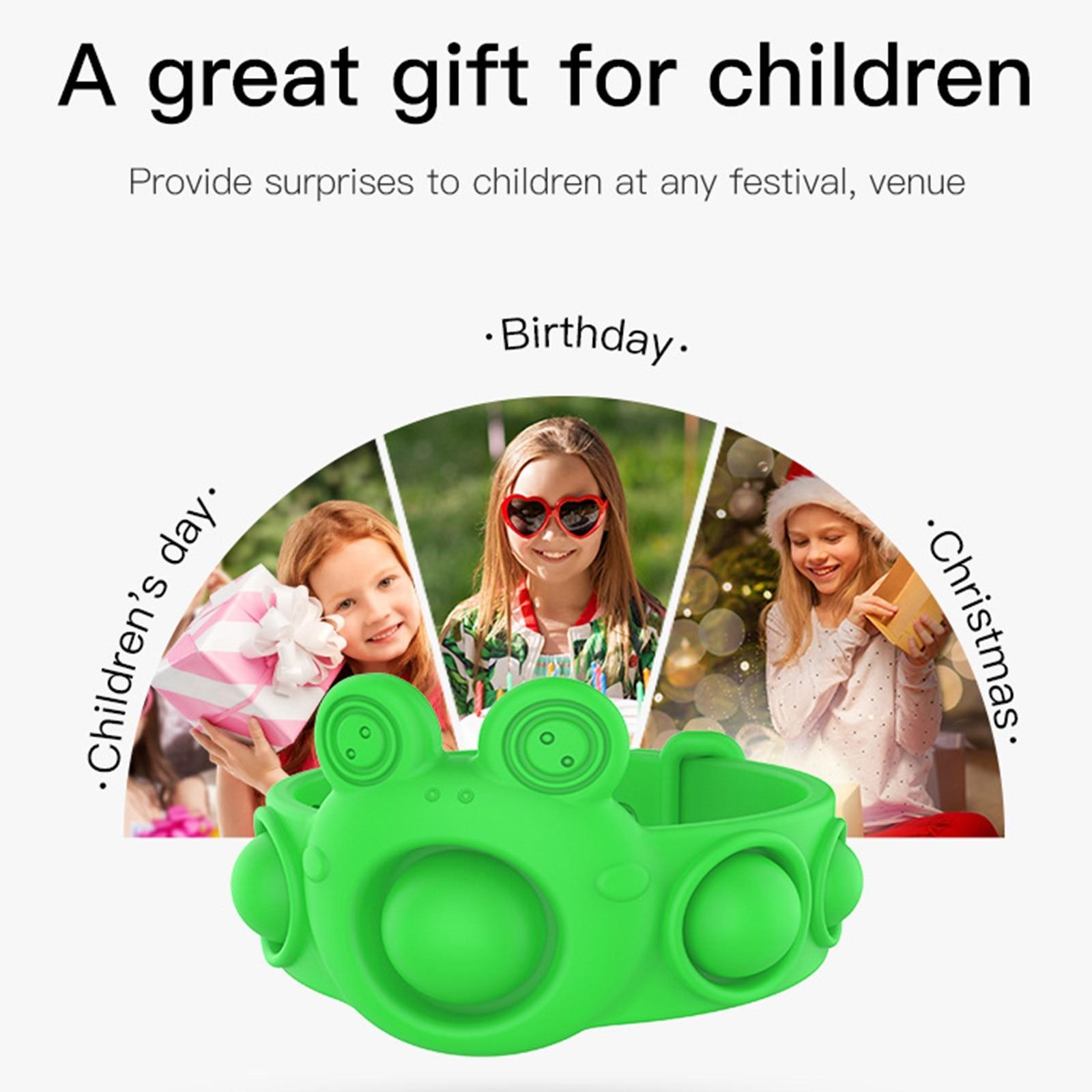 pop it frog bracelet fidget toy 2596 - Wacky Track