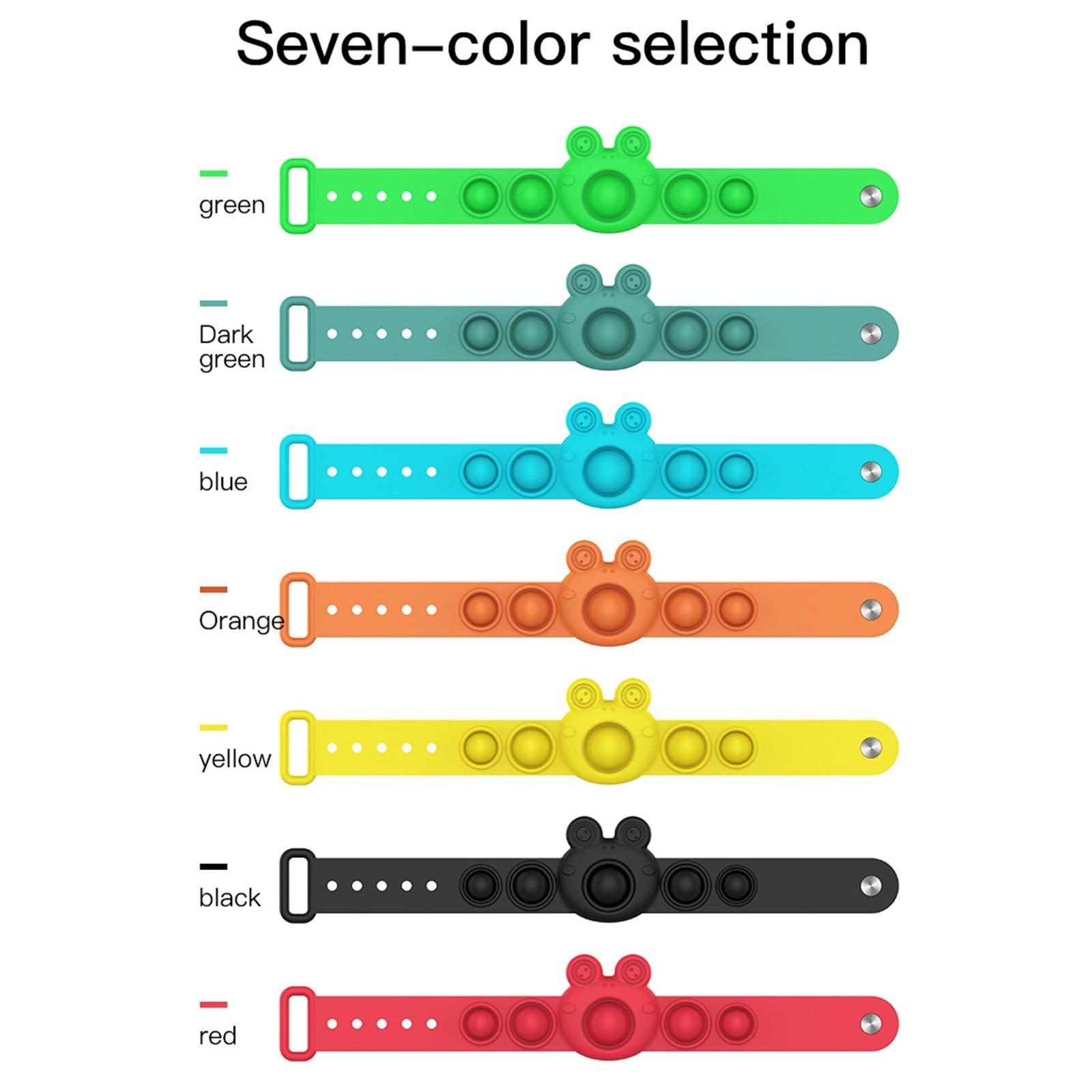 pop it frog bracelet fidget toy 6437 - Wacky Track