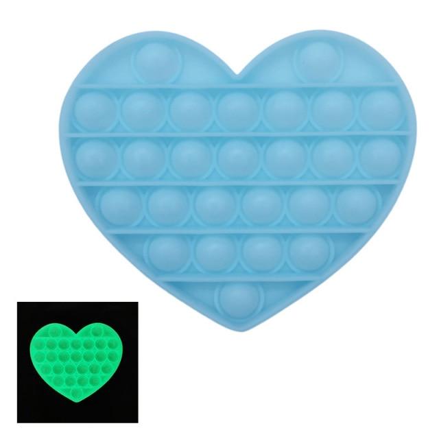 pop it glow heart shapes fidgets toys 1141 - Wacky Track